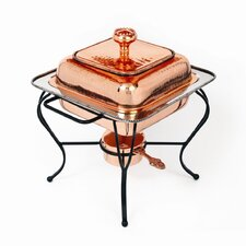 Copper 2 Qt Square Plated Chafing Dish