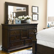 Down Home 9 Drawer Combo Dresser with Mirror