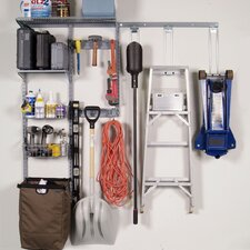Wall Mount Storage Center With Heavy Duty Hanging Hooks