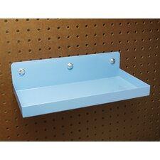 DuraHook 12 In. W x 6 In. Deep Blue Epoxy Coated Steel Shelf for DuraBoard