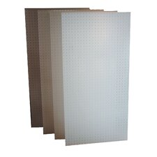 DuraBoard (4) 24 In. W x 48 In. H x 1/4 In. D White Polypropylene Pegboards with 9/32 In. Hole Size and 1 In. O.C. Hole Spacing