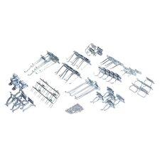LocHook 63 Pc Zinc Plated Steel Hook Assortment for LocBoard