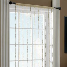 Jacqueline Polyester and Nylon Jewelry Single Curtain Panel (Set of 2)