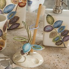 Mosaic Leaves Toothbrush Holder