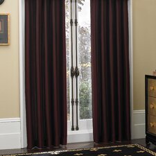 Newport Polyester Pleated Single Curtain Panel (Set of 2)