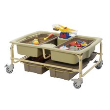 Sand and Water Sensory Center with 2 Extra Really Big Tubs