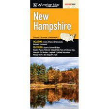 New Hampshire State Fold Map (Set of 2)