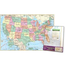 United States Poster Sized Wall Fold Map (Set of 2)