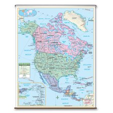 Primary Wall Map - North America