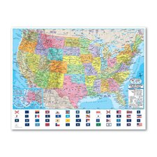 Advanced Political Rolled Map - Paper