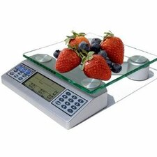Nutriton Scale  with Digital Food and Nutrient Calculator in Silver