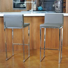 "Reda 30"" Bar Stool with Cushion (Set of 2)"