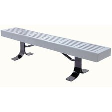 Slatted Steel Surface Mount Bench