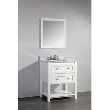 "Marla 30"" Single Sink Bathroom Vanity Set with Mirror"