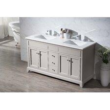"Arianny 59"" Double Sink Bathroom Vanity Set"
