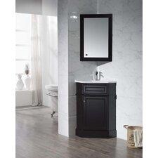 "Hampton 26.5"" Single Corner Bathroom Vanity with Mirror"