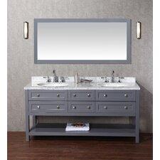 """Marla 72"""" Double Modern Bathroom Vanity Set"""