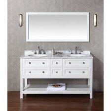 "Marla 60"" Double Sink Bathroom Vanity Set with Mirrors"