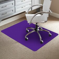 TrendSetter Rectangle Flat to Low Pile Carpet Straight Edge Chair Mat