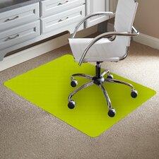 TrendSetter Rectangle Flat to Low Pile Carpet Straight Edge Chair Mat
