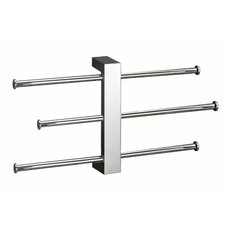 Bridge Wall Mounted Sliding 3-Tier Towel Rack