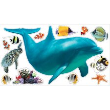 Wild Walls Dolphin Voyage 3D Wall Décor