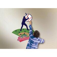 Wild Walls Baseball Star 3D Wall Décor