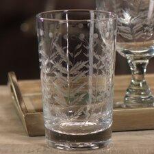 Spring Leaves Cut Design Hi Ball Glassware (Set of 8)