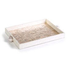 Capiz Brick Tray with Shell Handle