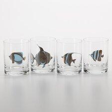 8 Piece Mauritius Fish Glass Tumbler Set