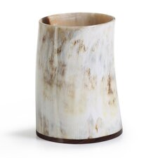 Horn Tumbler with Wooden Base