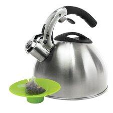 Soft Grip 3-qt. Tea Kettle with Tea Bag Buddy