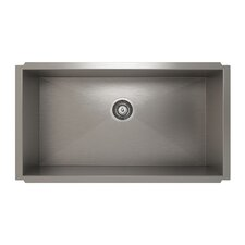 "ProInox 32"" x 18"" Undermount Single Bowl Kitchen Sink"