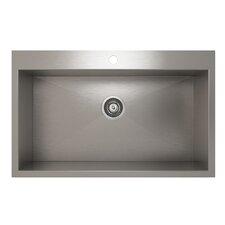 "ProInox 32"" x 20"" Topmount Single Bowl Kitchen Sink"
