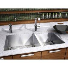 """J7 32"""" x 19.5"""" Undermount 16 Gauge Double Bowl Kitchen Sink"""
