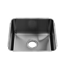 "Classic 16"" x 17.5"" Undermount Single Bowl Kitchen Sink"