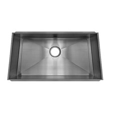 "Trapezoid 33.33"" x 17.5"" Undermount Single Bowl Kitchen Sink"