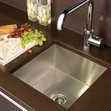 "UrbanEdge 13"" x 13.5"" Undermount Single Bowl Specialty Kitchen Sink"