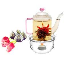 Romeo 0.53-qt. Fab Flowering Teapot