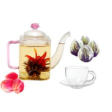 Romeo 0.53-qt. Fab Flowering Teapot Set