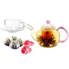 Juliet 0.63-qt. Fab Flowering Teapot Set