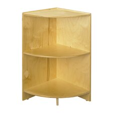 "Cubbie 24"" Curved Shelf Corner in Natural"