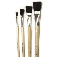Black Bristle Easel Brush 1 Each (Set of 3)