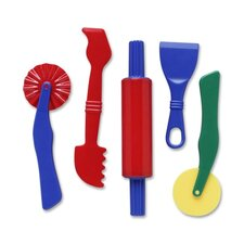 Clay Dough Tools Set, 5 Piece, Assorted Colors