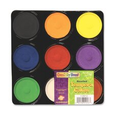 Tempera Paint Blocks , Non-Toxic, 9 Set, Assorted