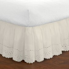 Fresh Ideas Eyelet Extra Long Bed Skirt