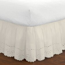 Fresh Ideas 180 Thread Count Eyelet Bed Skirt