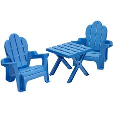 3 Piece Adirondack Table and Chair Set