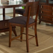 "Perspective 25.5"" Bar Stool with Cushion (Set of 2)"