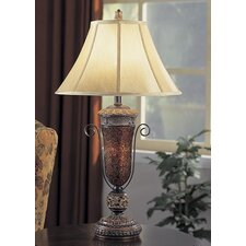 "Mosaic 32"" H Table Lamp with Bell Shade"